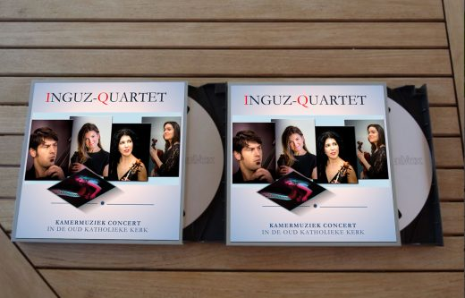 Inguz quartet cd's on table
